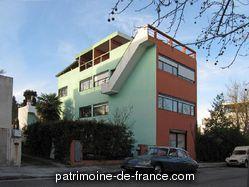 Patrimoine classé, étudié ou inscrit dit 'Immeuble faisant partie du Quartier moderne de Frugès' à pessac (gironde 33600). Logement construit en 1925 par Le Corbusier, avec son cousin Pierre Jeanneret, à la demande d'Henry Frugès.
