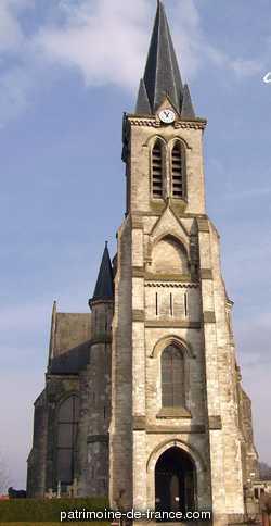 En 1878, le maire de Bouvines décida de faire reconstruire l'église paroissiale, jugée trop vétuste et trop exiguë. La construction débuta en 1880 pour s'achever en 1886 ; les vitraux ne furent réalisés qu'à partir de 1889 ; l'église fut consacrée en 1910. L'architecte Auguste Normant s'est inspiré de l'architecture médiévale et l'a conçue comme une sainte-chapelle, ne renfermant aucune relique, mais servant d'écrin aux vitraux.