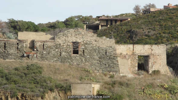 Mailly redoubt (remains), French Heritage monument to Port vendres.