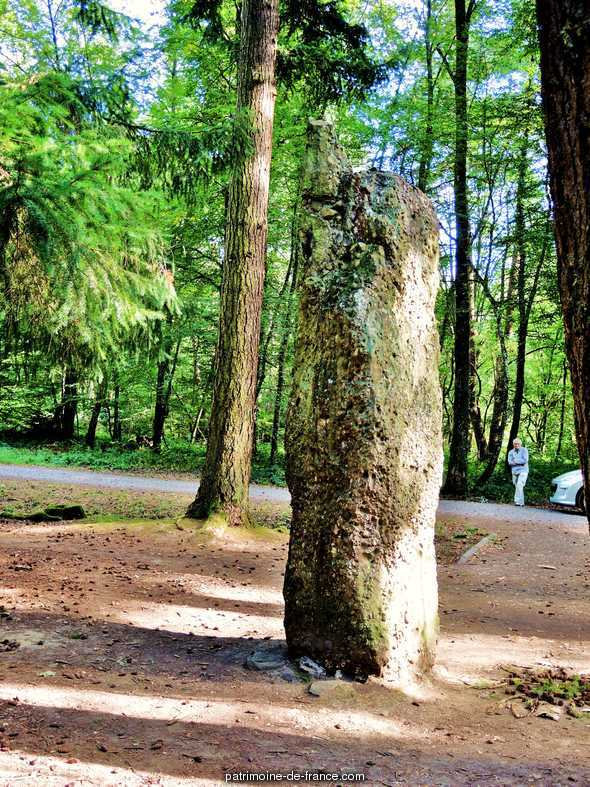 Menhir said Langenstein near the Romanian cemetery, French Heritage monument to Soultzmatt.