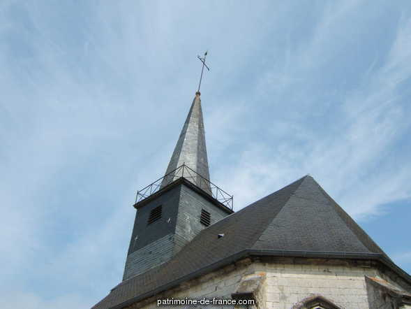 Church, French Heritage monument to Ecuires.