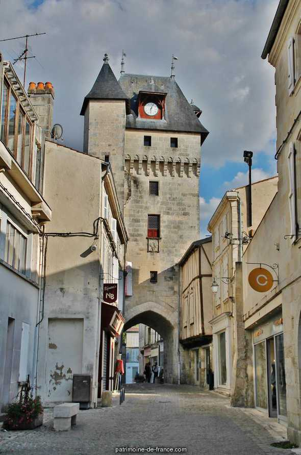 The clock tower, French Heritage monument to St jean d angely.