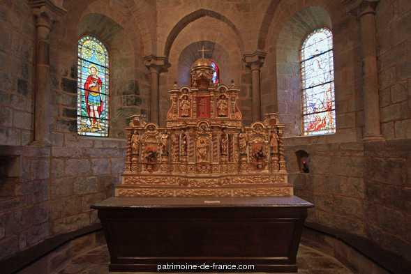 Church parish-Sainte-Croix, French Heritage monument to Rosiers d egletons.