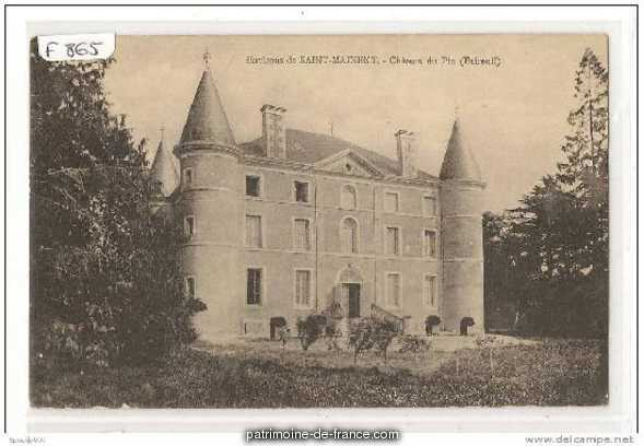 Chateau du Pin, French Heritage monument to Exireuil.