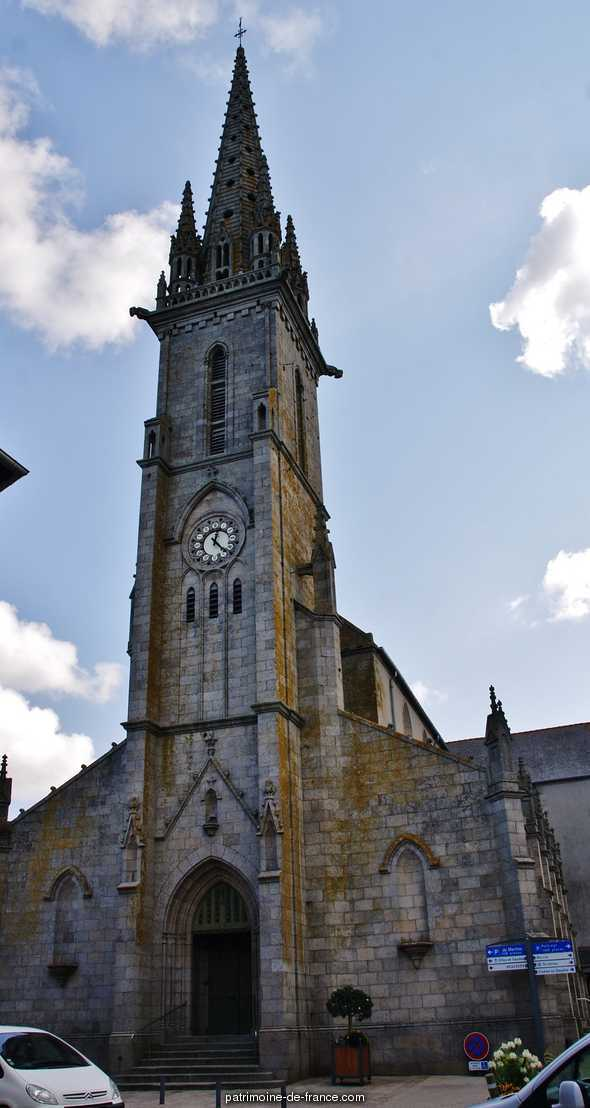 Parish church of Saint-Pierre, French Heritage monument to Plouescat.
