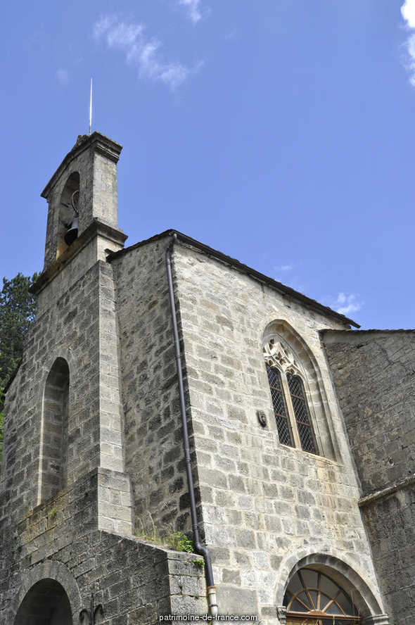 Church, French Heritage monument to Barre des cevennes.