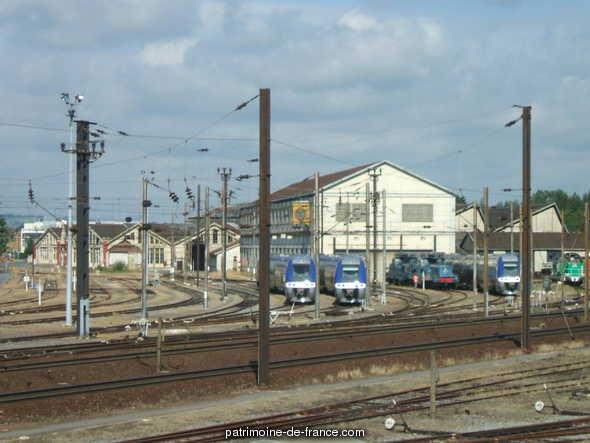 Dépôt SNCF de Mohon à Charleville mezieres.