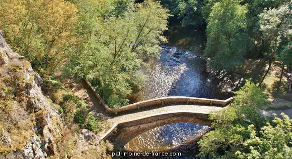 Pont sur la Cure (vieux) à Pierre perthuis.
