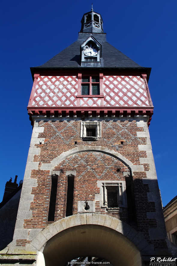 The clock tower, French Heritage monument to St fargeau.