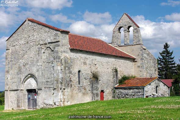 Old church Saint-André de Taxat, French Heritage monument to Taxat senat.