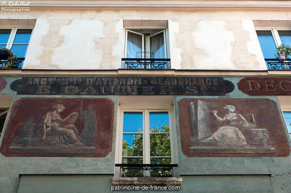 Building, French Heritage monument to Paris 5eme arrondissement.