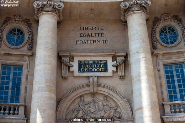 Faculty of law of Paris, French Heritage monument to Paris 5eme arrondissement.