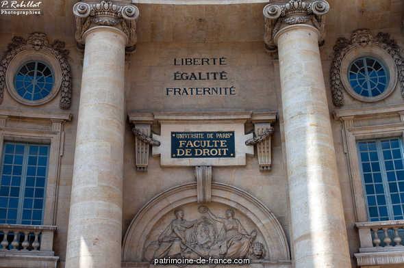 Faculté de Droit de Paris à Paris 5eme arrondissement.