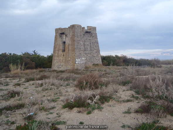 Tower called fears of Castellas, French Heritage monument to Sete.