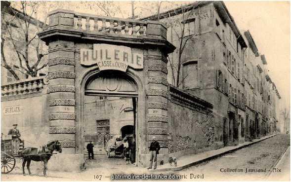 Hôtel de Maliverny à Aix en provence.
