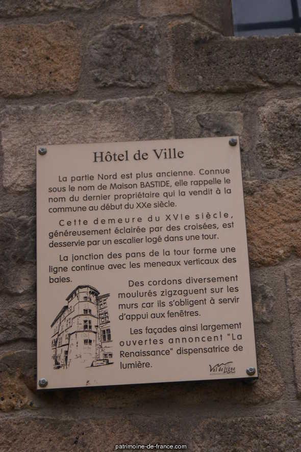 Maison Bastide (annexe de la mairie) à Largentiere.