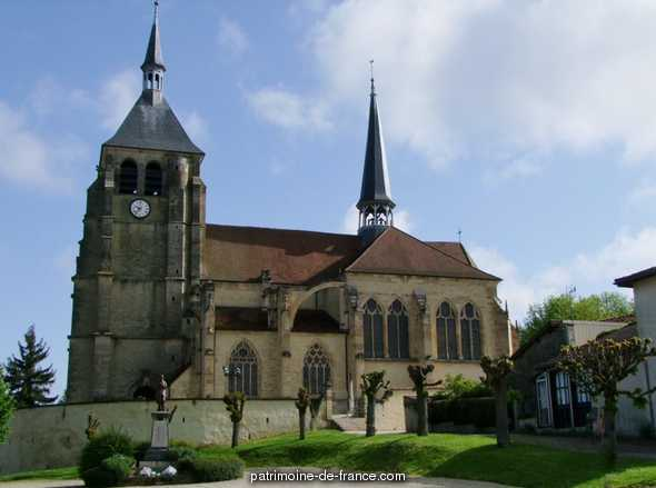 Church St. Lawrence, French Heritage monument to Soulaines dhuys.