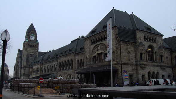 Railway station, French Heritage monument to Metz.
