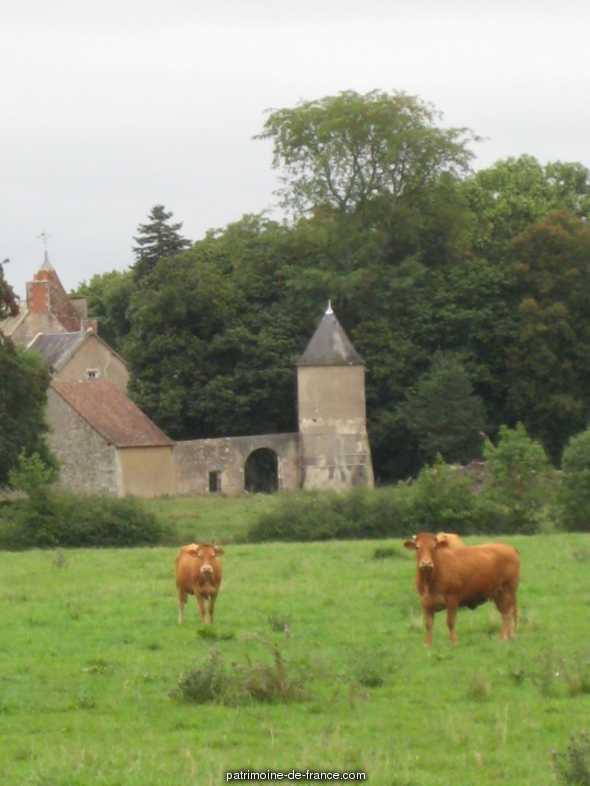Manor house, French Heritage monument to Le blanc.