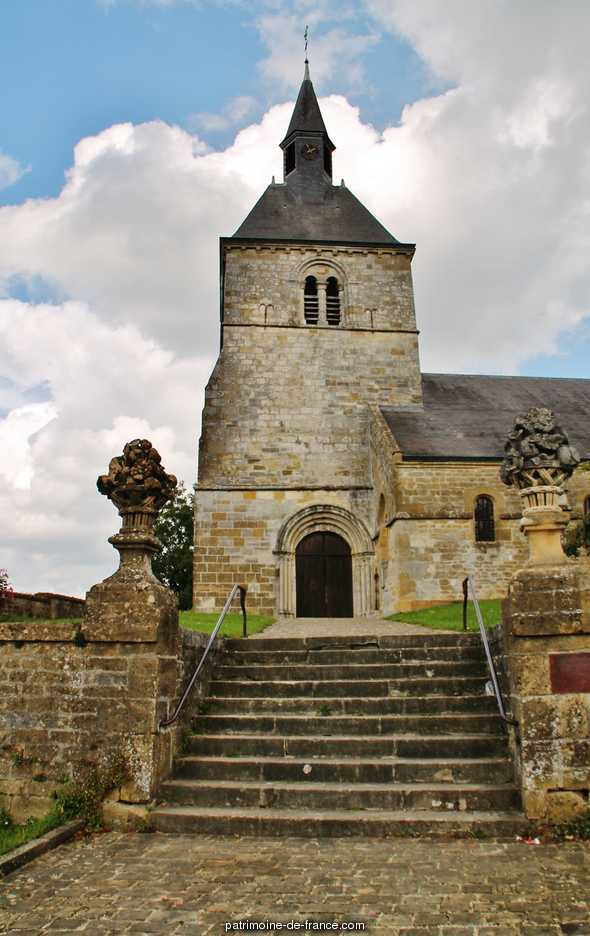 Church, French Heritage monument to Chemery sur bar.