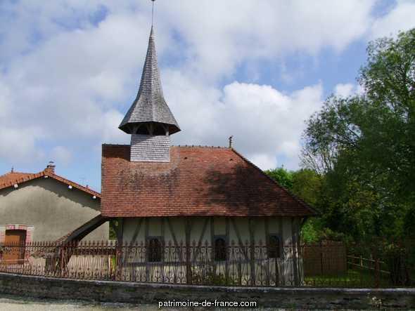 Chapelle en bois à Soulaines dhuys.