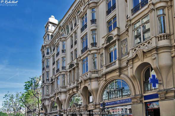 Immeuble Hennebique à Paris 6eme arrondissement.