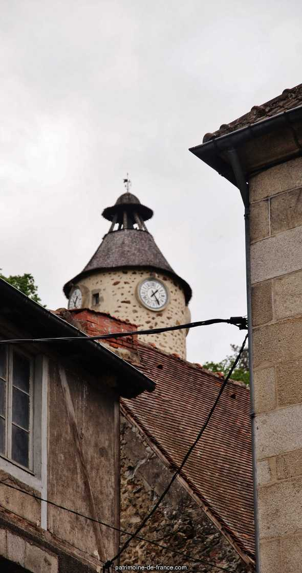 The clock tower, French Heritage monument to Aubusson.