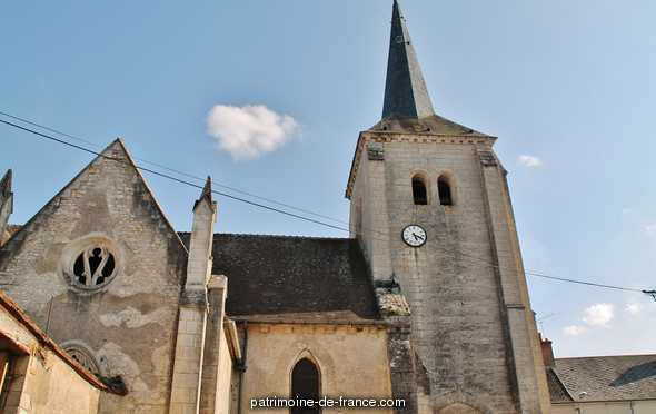 Church Saint-Loup, French Heritage monument to Herry.