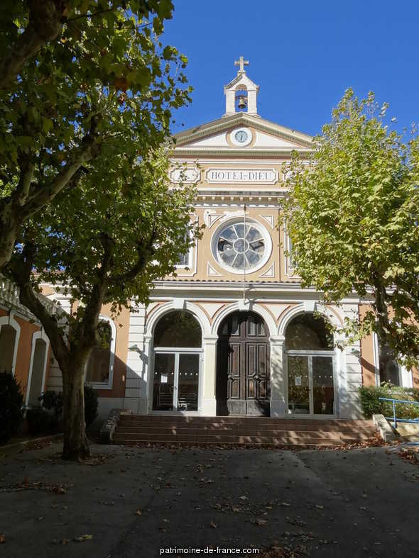 Hôtel-Dieu, hospice., French Heritage monument to Hyeres.