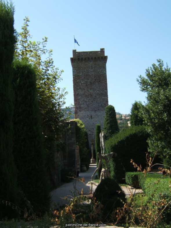 Garden of the Castle of la Napoule, French Heritage monument to Mandelieu la napoule.