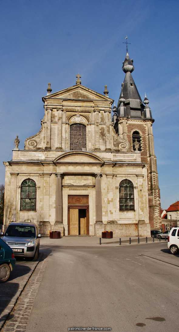 Church Saint-Wasnon, French Heritage monument to Conde sur l escaut.