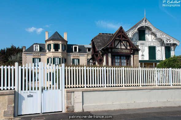 House Villa Henriette, French Heritage monument to Lion sur mer.
