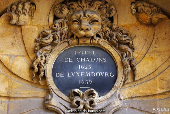 Hôtel de Chalons-Luxembourg (ancien) à Paris 4eme arrondissement.
