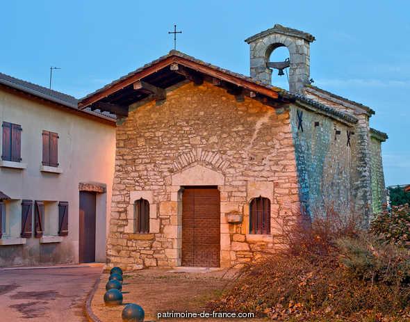 Eglise du hameau de La Chapelle à Quincieux.
