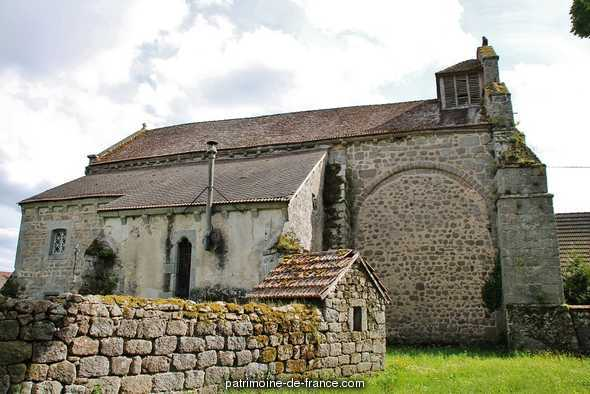 Church parish Saint-Blaise, French Heritage monument to St bard.