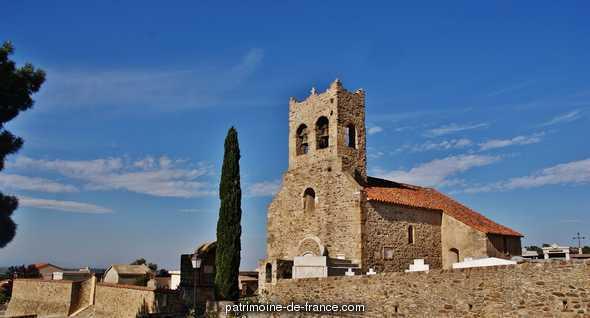 Eglise à Montesquieu des alberes.