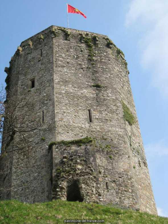 Restes du château à Bricquebec.