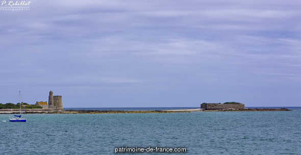 The island of Tatihou military building to St vaast la hougue.