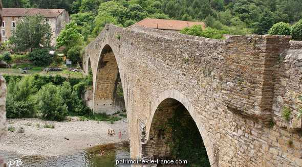 The Devil's bridge, French Heritage monument to Olargues.