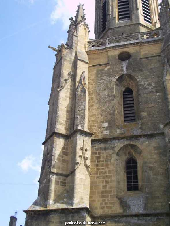 Church, French Heritage monument to Boulogne sur gesse.
