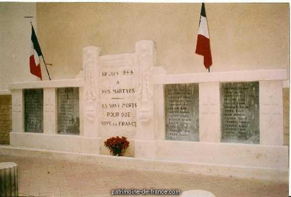 Monument aux Morts aux Fusillés du 12 Juin 1944