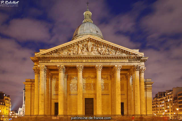 Old church of Sainte-Genevi�ve, become the Pantheon, French Heritage monument to Paris 5eme arrondissement 7