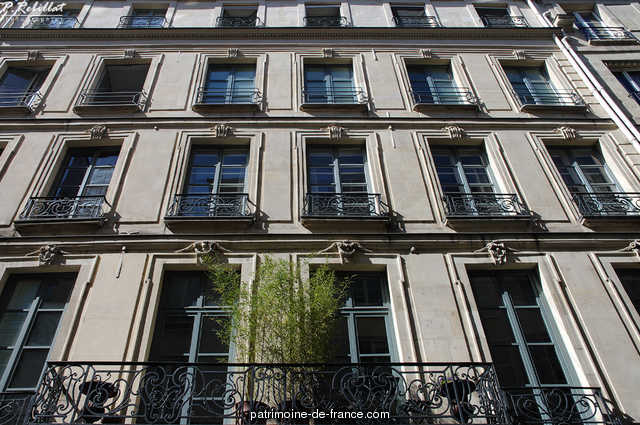 Beligny hotel (former), French Heritage monument to Paris 6eme arrondissement 50