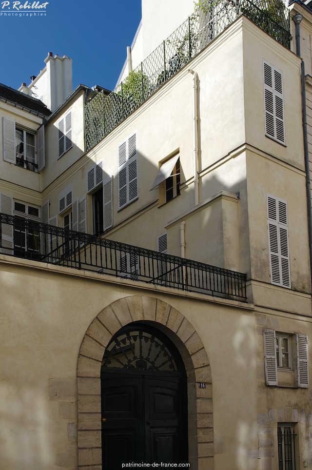 Claude-Turcat hotel, French Heritage monument to Paris 6eme arrondissement 53