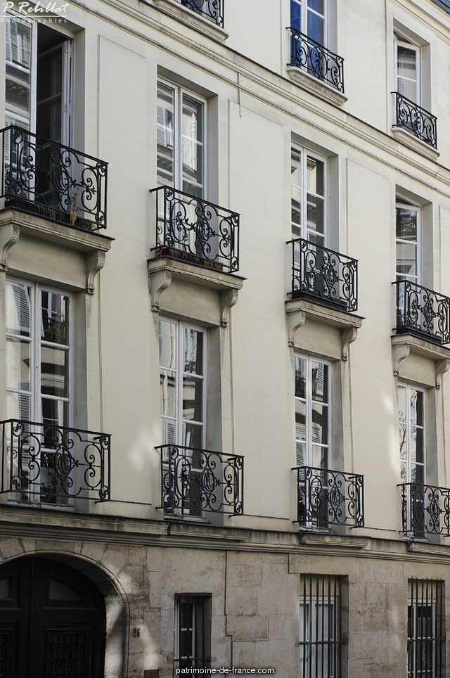 Hotel Charles-Testre, French Heritage monument to Paris 6eme arrondissement 44