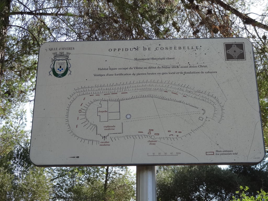 Oppidum de Costebelle (former), French Heritage monument to Hyeres.