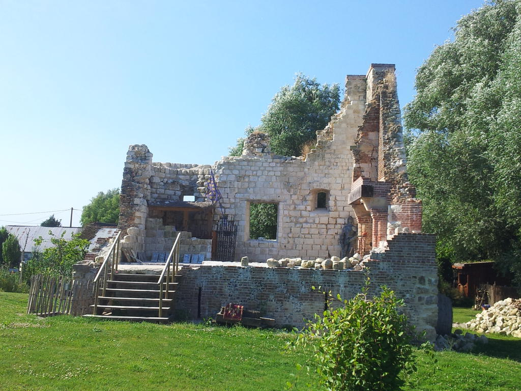 Ruins of the castle of Pourtricourt, French Heritage monument to Lancheres.