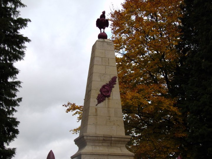 Monument of the cock, French Heritage monument to Combres sous les cotes.