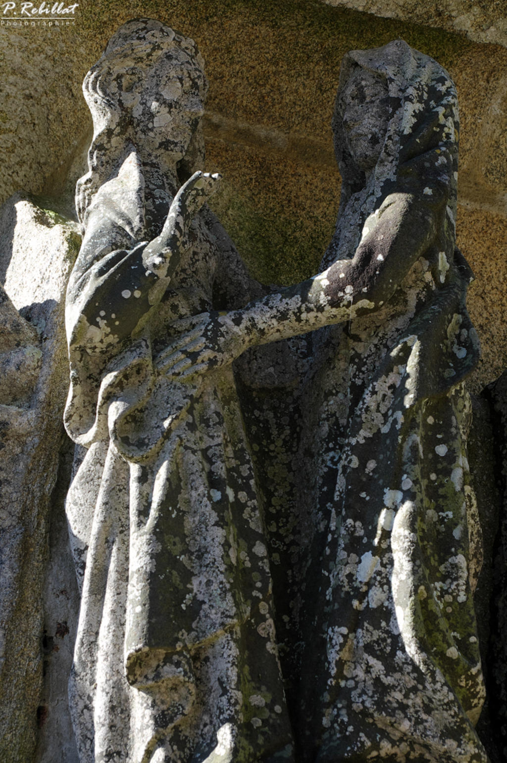 Calvary in the 16th century stone, French Heritage monument to St jean trolimon.