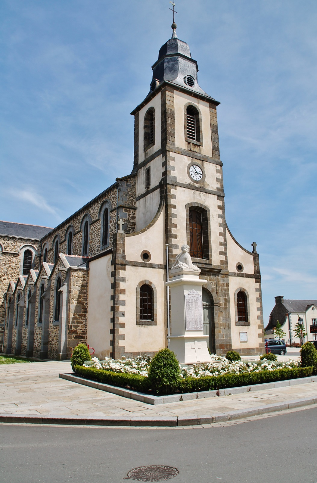 Parish church of St. John the Baptist, French Heritage monument to St jouan des guerets.